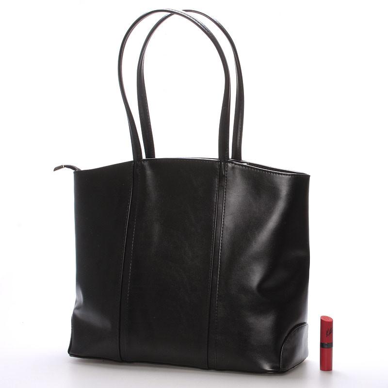 Velká kabelka Mandy, černá matná