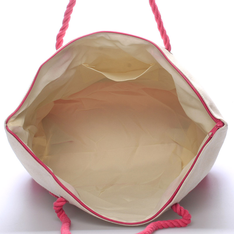 Letní plážová taška Becky, růžová