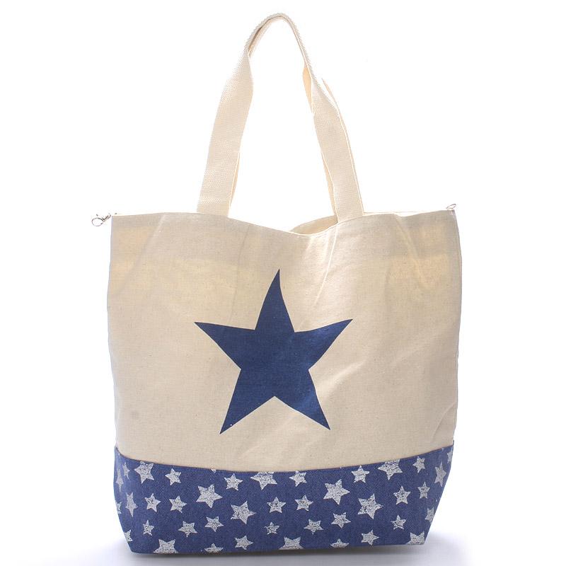 Modrá plážovka s hvězdou Inna, modrá