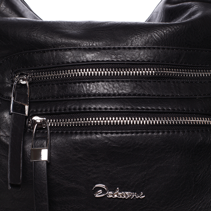 Trendy crossbody kabelka Leon, černá