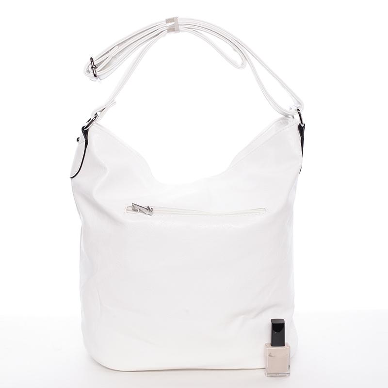 Trendová kabelka Saige přes rameno, bílá logo Delami