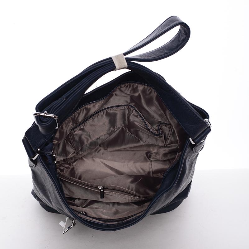 Trendová kabelka Saige přes rameno, tmavě modrá logo Delami