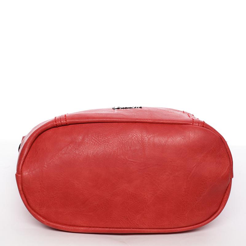 Trendová kabelka Saige přes rameno, červená logo Delami