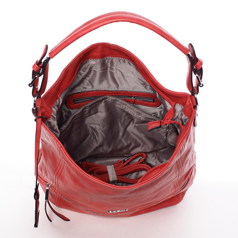 Dámská kabelka přes rameno Leanne, červená