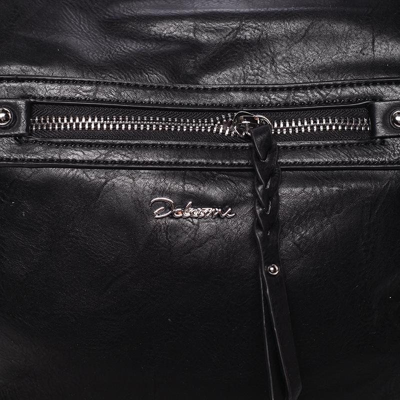 Dámská trendy kabelka přes rameno Delami Reese, černá