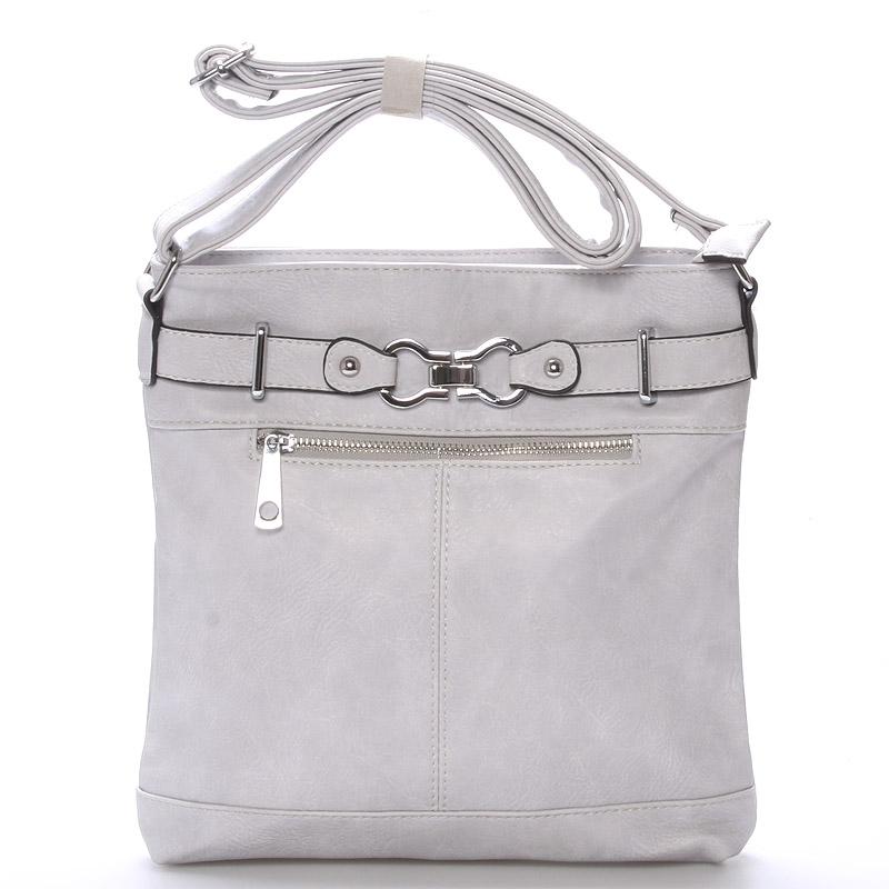Módní crossbody kabelka Olivia, světle šedá