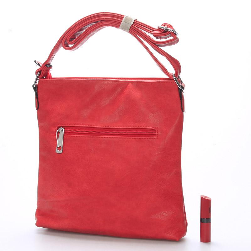 Módní crossbody kabelka Olivia, červená