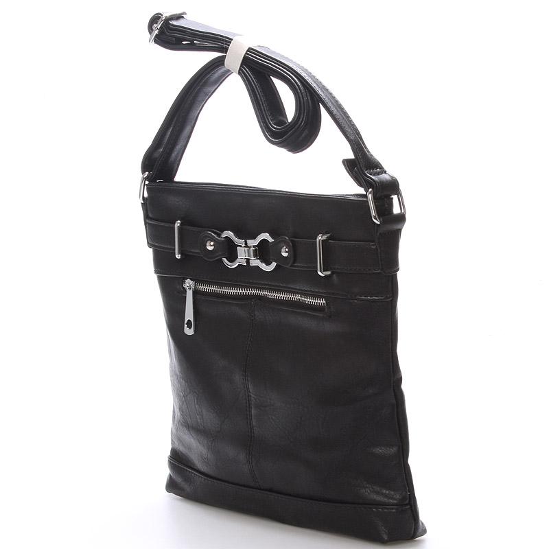 Módní crossbody kabelka Olivia, černá