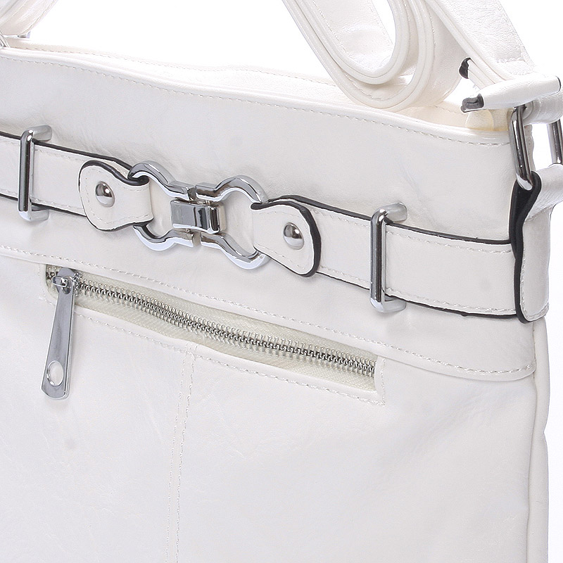 Módní crossbody kabelka Olivia, bílá