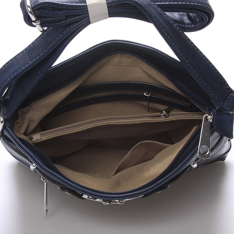 Módní crossbody kabelka Olivia, tmavě modrá