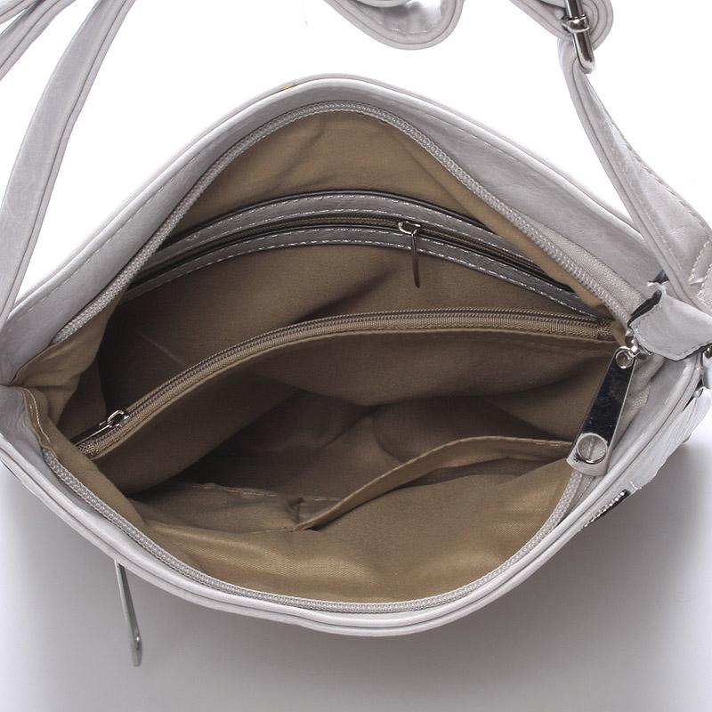 Crossbody kabelka Kirsty, světle šedá