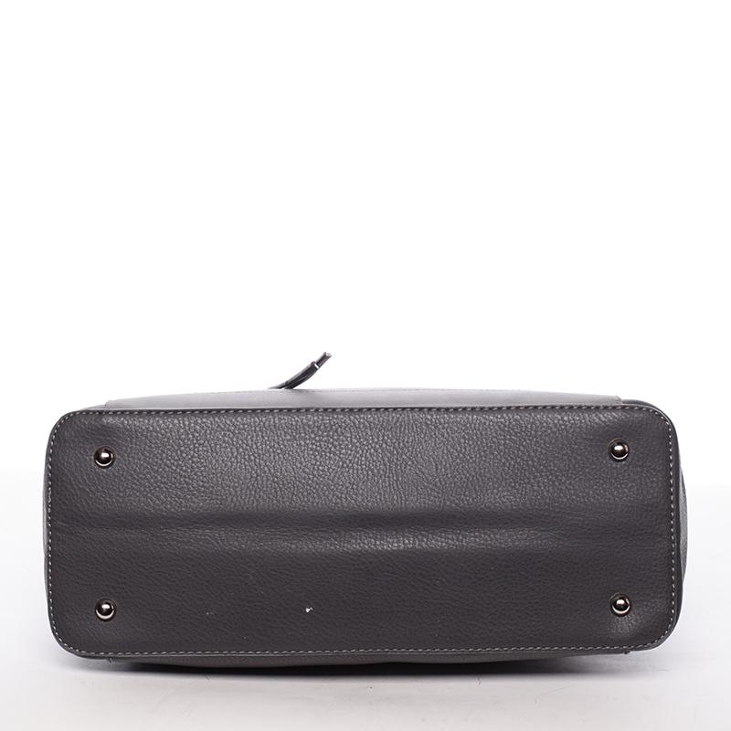 Luxusní kabelka do ruky i přes rameno Stephanie, tmavě šedá