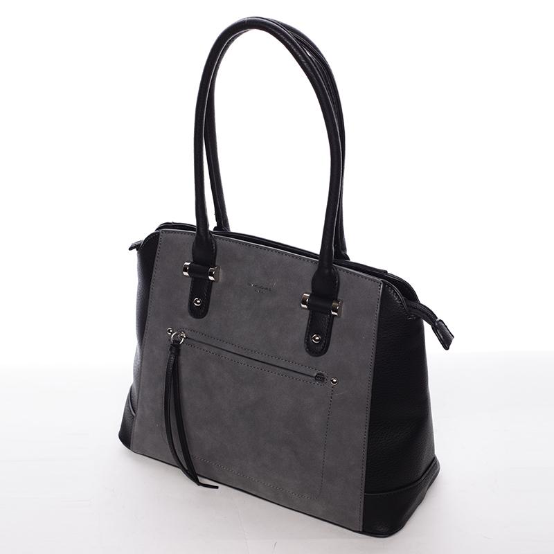 Luxusní kabelka do ruky i přes rameno Stephanie, černá