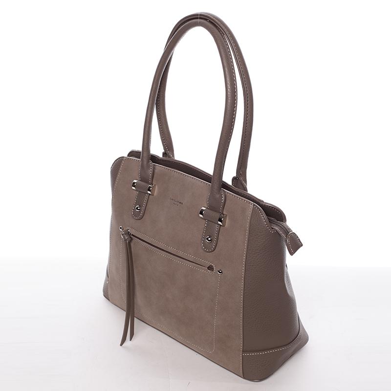 Luxusní kabelka do ruky i přes rameno Stephanie, tmavě oříšková