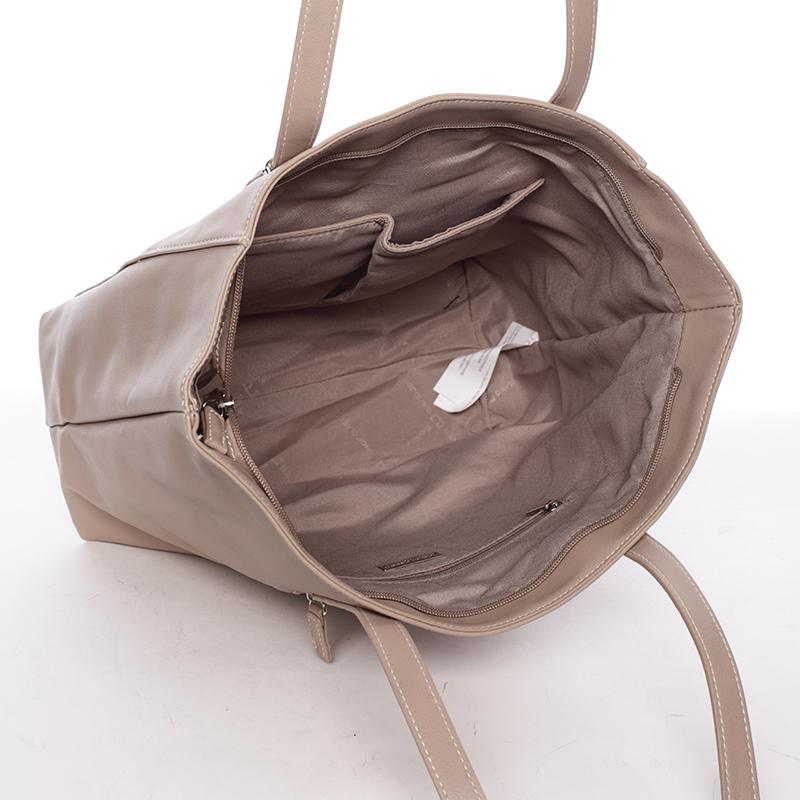 Trendy dámská kabelka Chelsea, béžová