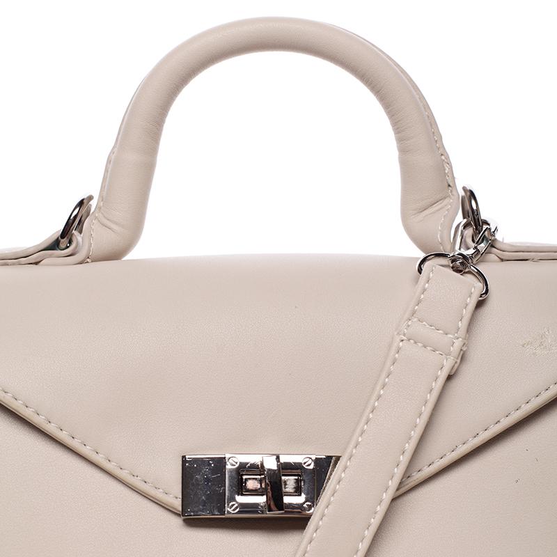 Luxusní kabelka do ruky Rhiannon, světle béžová