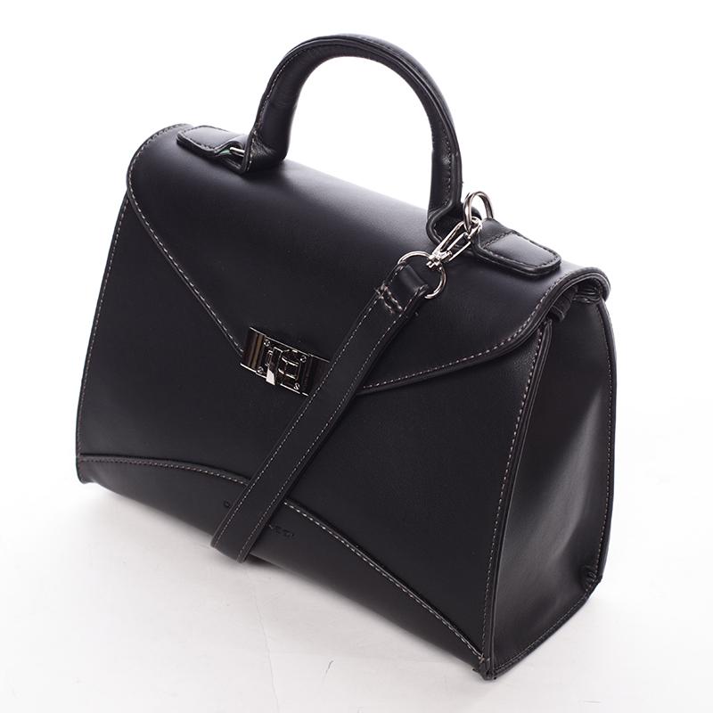 Luxusní kabelka do ruky Rhiannon, černá