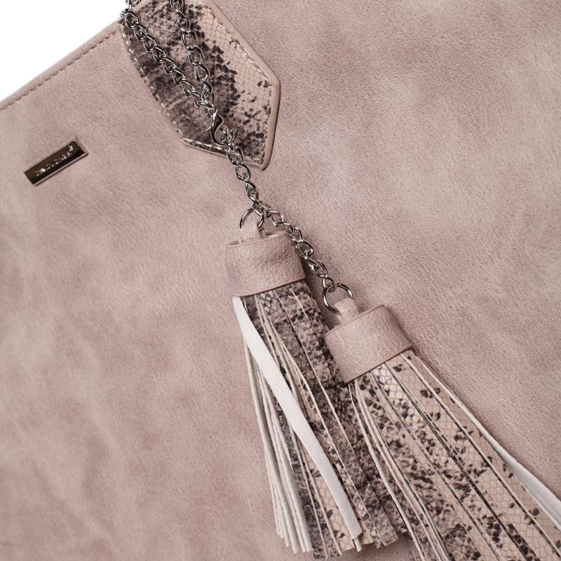 Dámská luxusní kabelka přes rameno Mollie, růžová