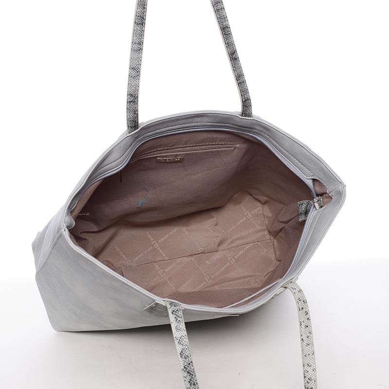 Dámská luxusní kabelka přes rameno Mollie, světle modrá