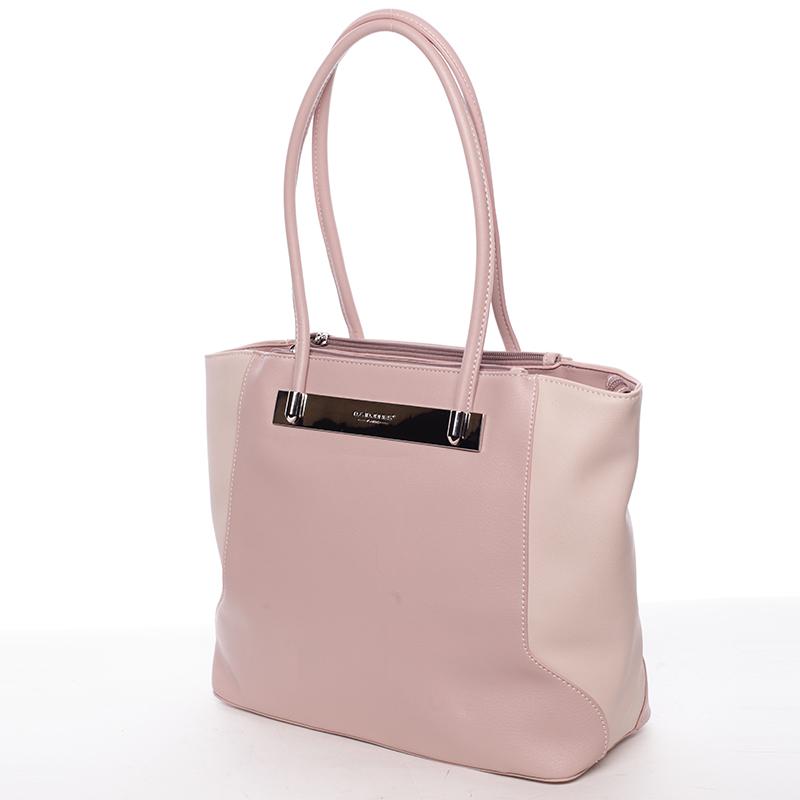 Luxusní dámská kabelka přes rameno Sasha, růžová
