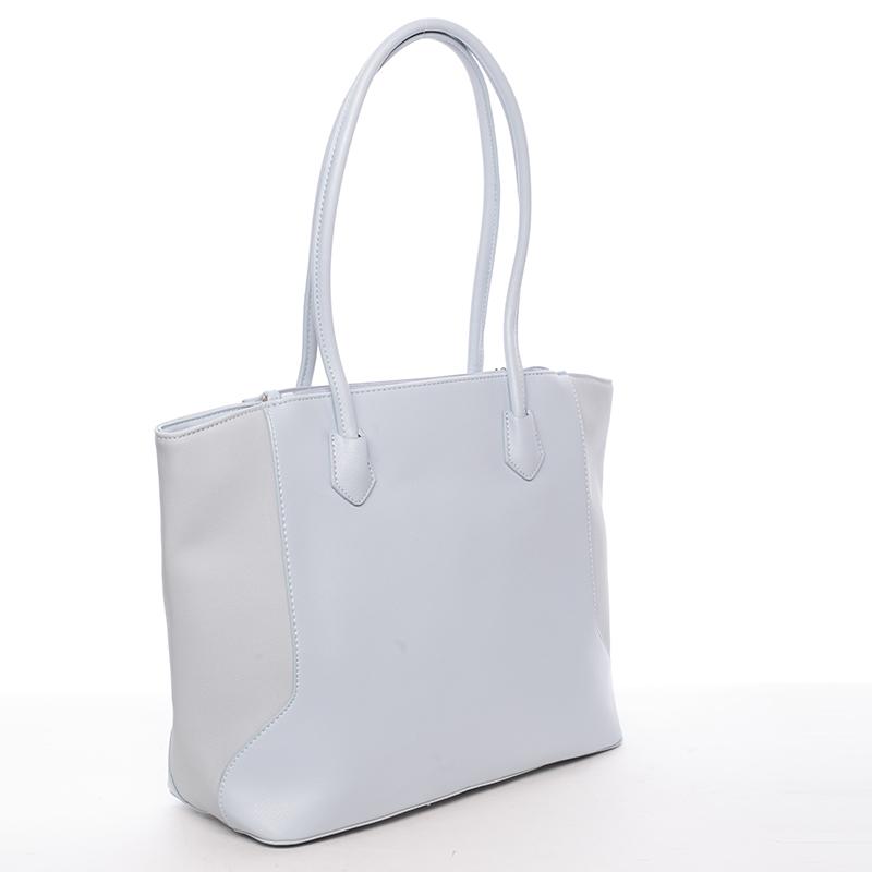 Luxusní dámská kabelka přes rameno Sasha, světle modrá