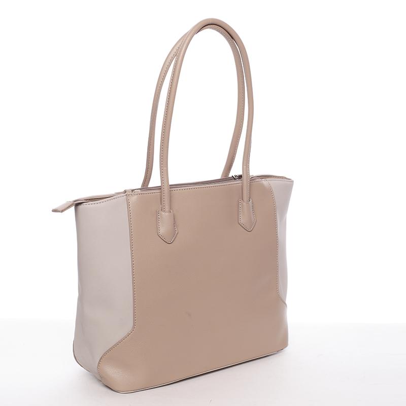 Luxusní dámská kabelka přes rameno Sasha, béžová