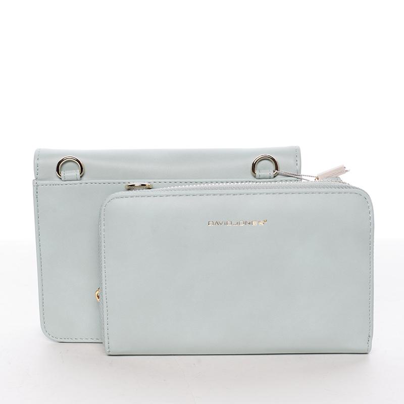 Luxusní crossbody a peněženka Amara, světle modrá