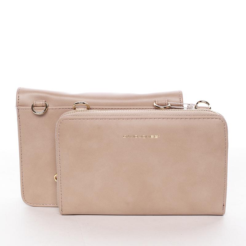 Luxusní crossbody a peněženka Amara, béžová