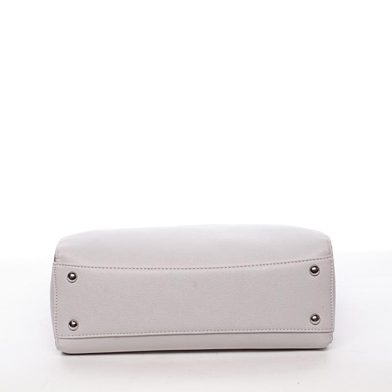 Trendy dámská kabelka Aurora, světle šedá