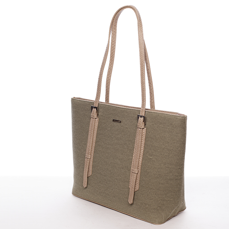 Trendy kabelka přes rameno Bibiana, khaki