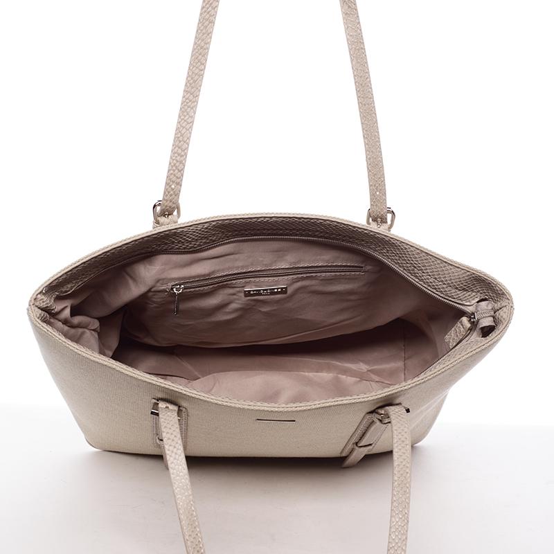 Trendy kabelka přes rameno Bibiana, béžová
