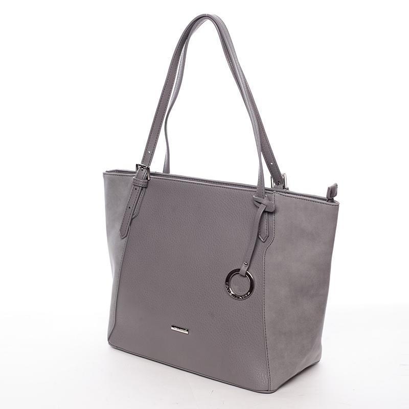 Stylová kabelka přes rameno Desirée, tmavě šedá