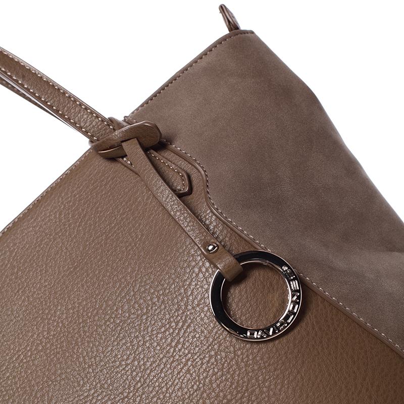 Stylová kabelka přes rameno Desirée, tmavě béžová