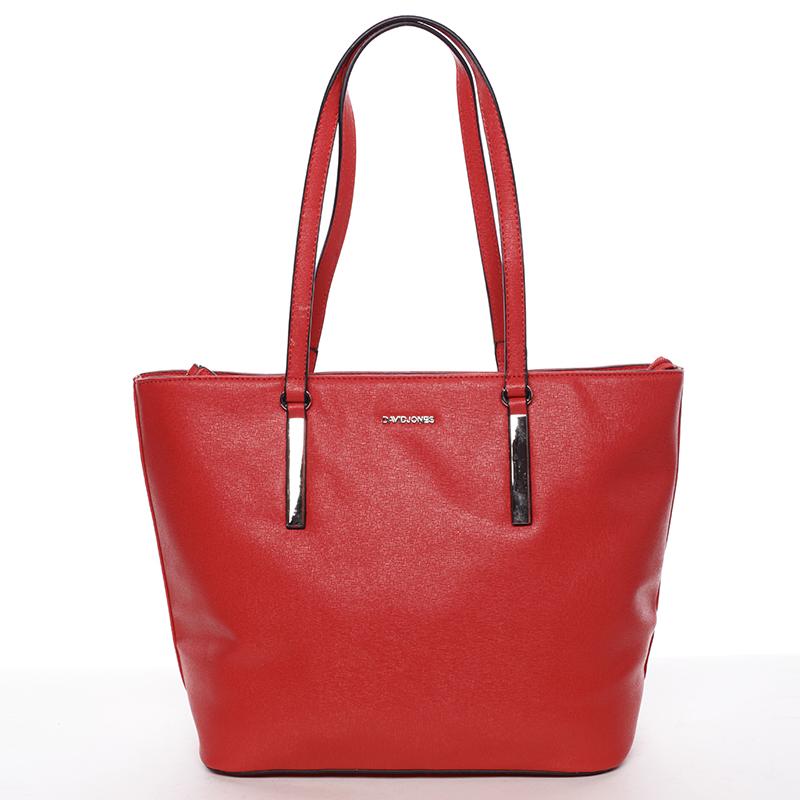 Trendy dámská kabelka přes rameno Dafne, červená