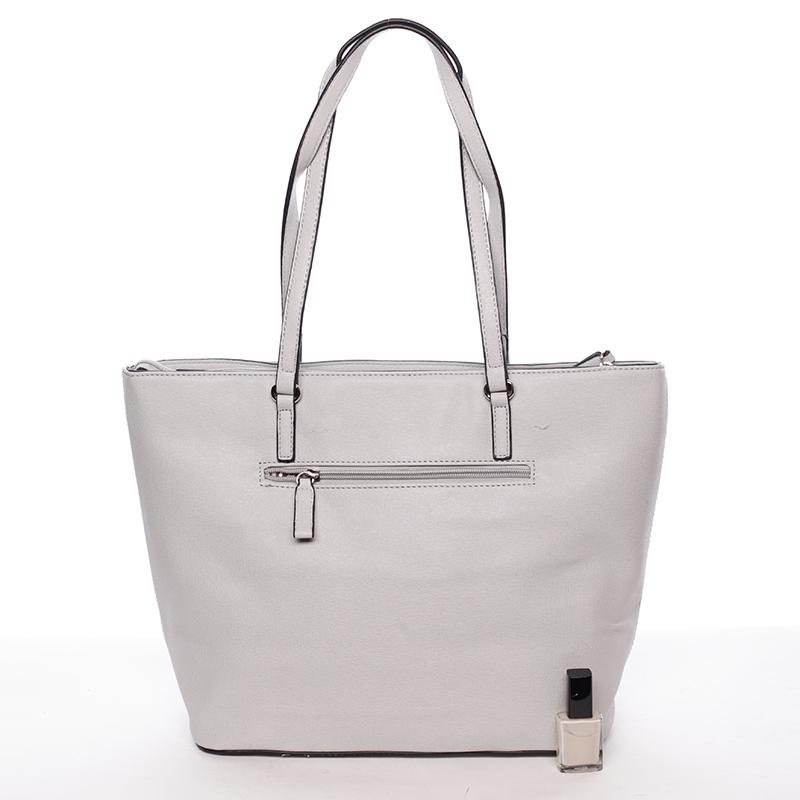 Trendy dámská kabelka přes rameno Dafne, světle šedá