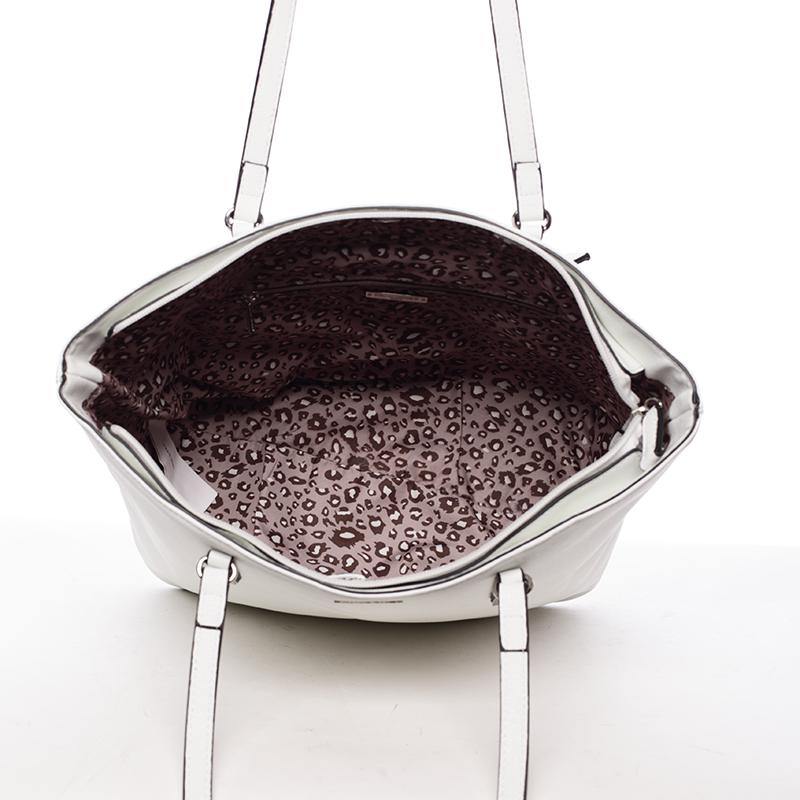 Trendy dámská kabelka přes rameno Dafne, bílá