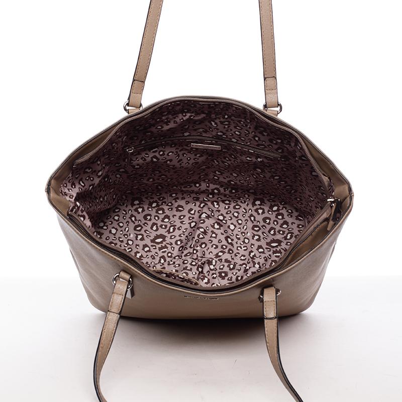 Trendy dámská kabelka přes rameno Dafne, béžová