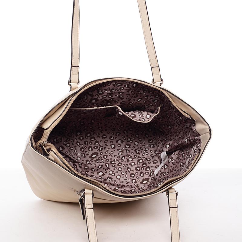 Trendy dámská kabelka přes rameno Dafne, světle béžová