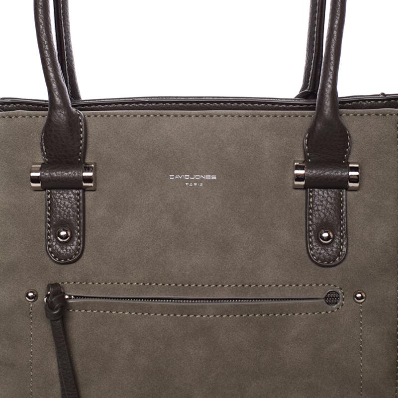 Luxusní kabelka do ruky i přes rameno Eugenia, tmavě zelená (khaki)