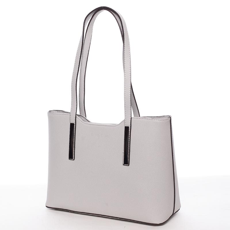 Elegantní kabelka přes rameno Nina, světle šedá