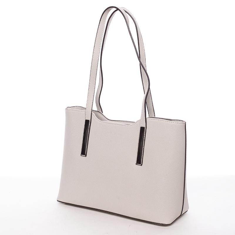 Elegantní kabelka přes rameno Nina, světle béžová
