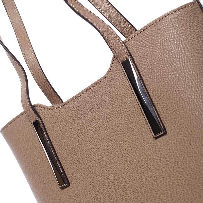 Elegantní kabelka přes rameno Nina, tmavě béžová (camel)