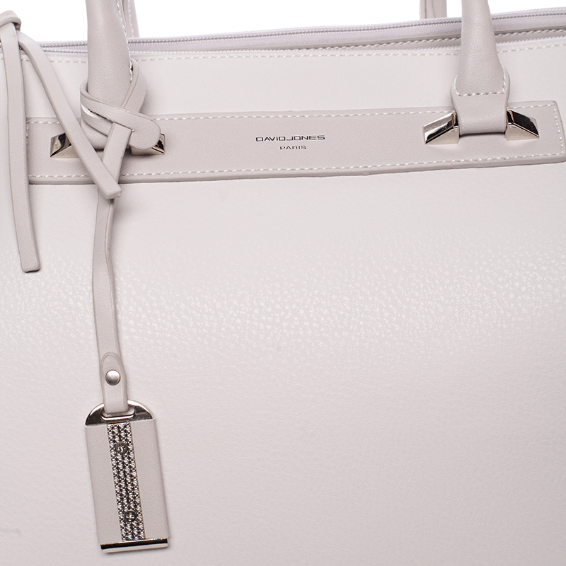 Stylová kabelka do ruky Ross, krémově šedá