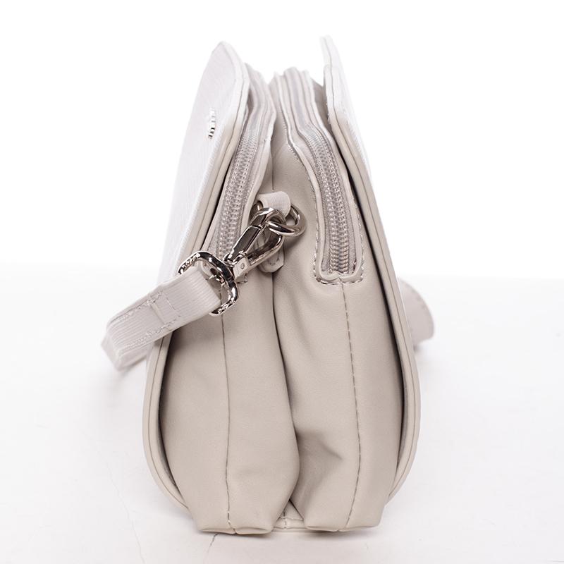 Stylová crossbody kabelka Dulce, krémově šedá