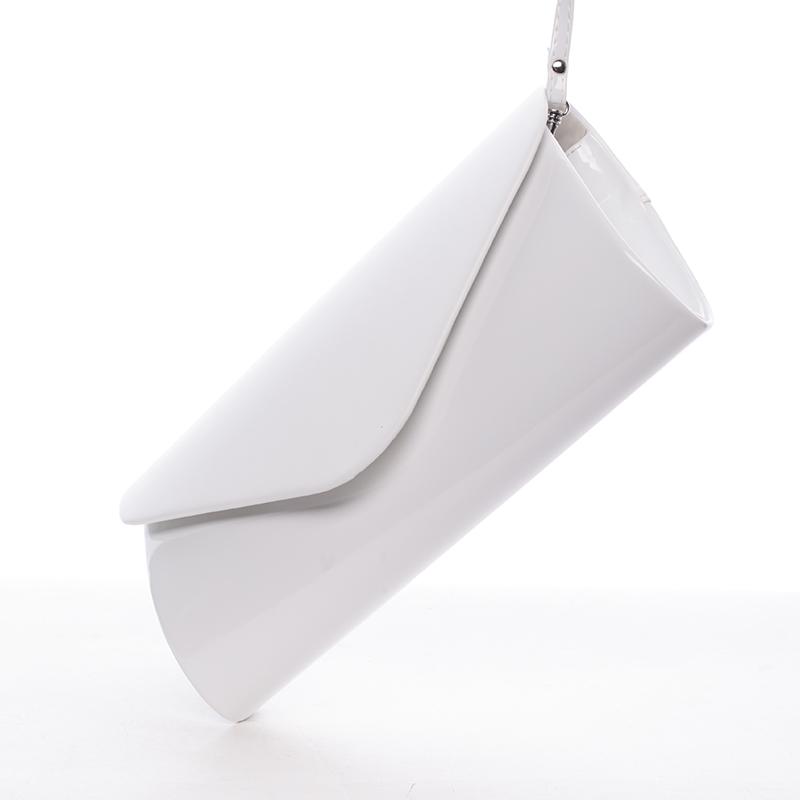 Dámské psaníčko Rebeca, lakované bílé