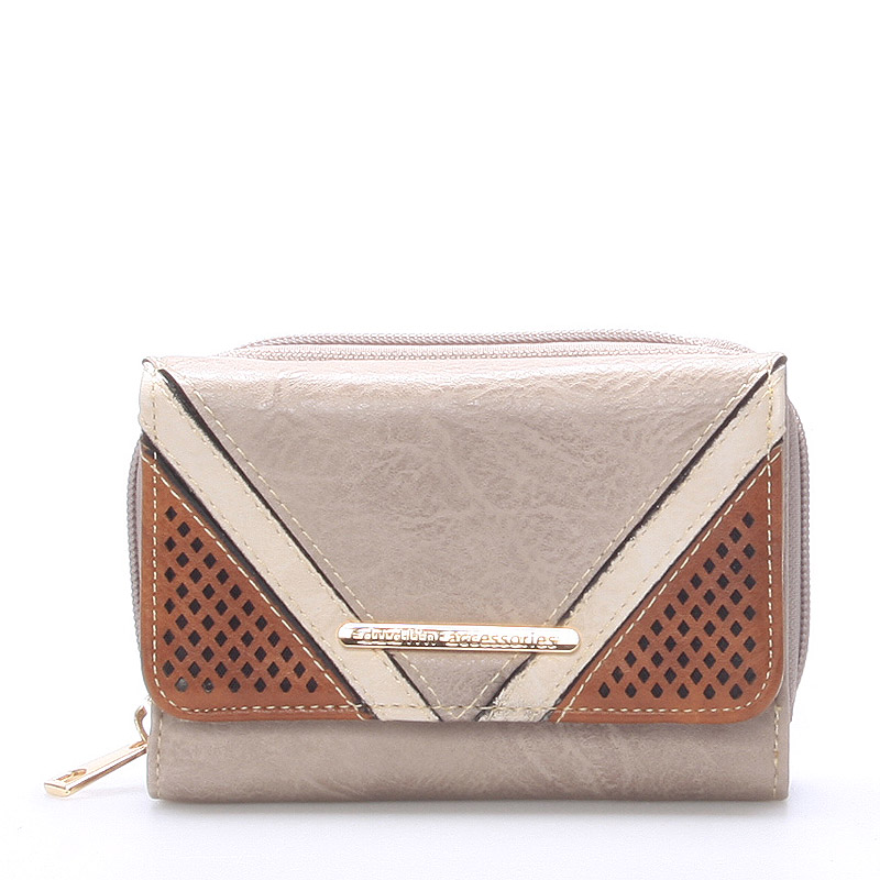 Stylová dámská peněženka Natalie, světlá khaki
