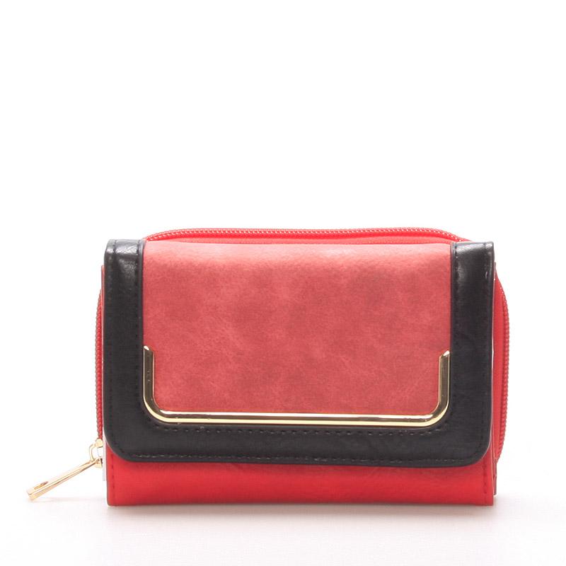 Stylová peněženka pro ženy, červená