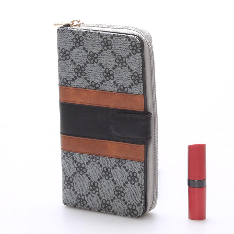 Prostorná peněženka Rachael, šedá