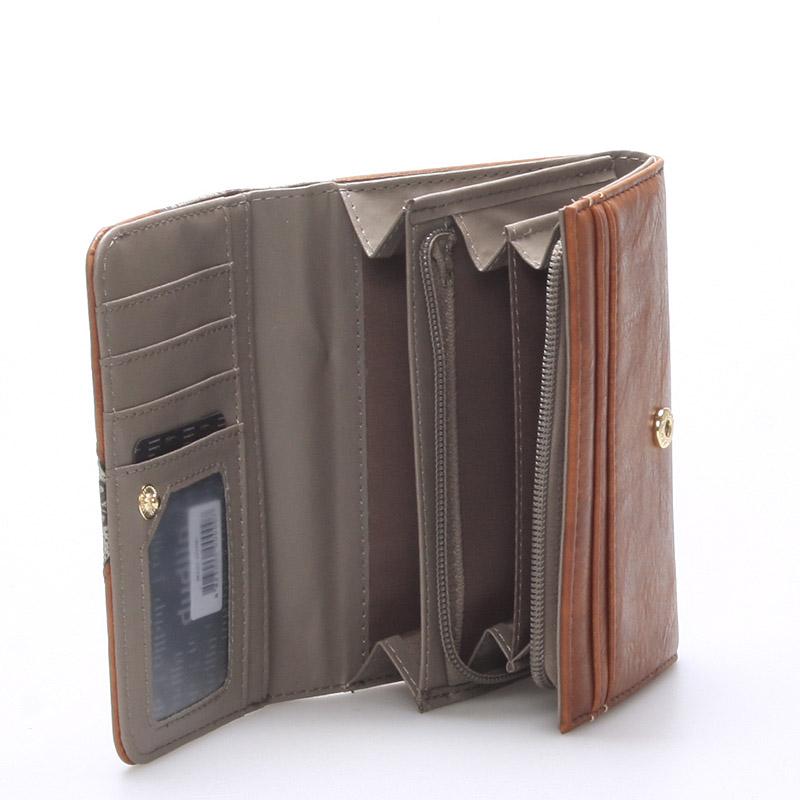 Krásná peněženka Victoria, khaki
