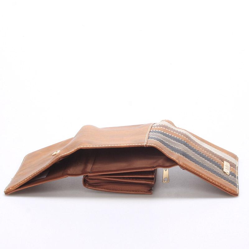 Pestrá dámská peněženka Jennifer, hnědá